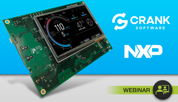 NXP floating embedded board in partnership with Crank Software